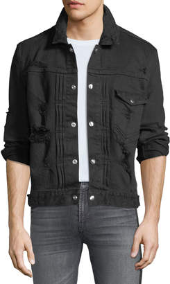 Balmain Men's Destroyed Denim Jacket