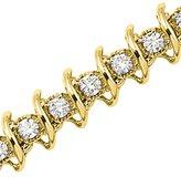 KATARINA 14K Yellow Gold 3 ct. Diamond Tennis Bracelet