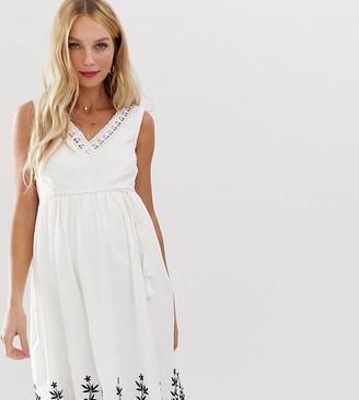 Mama Licious Mamalicious embroidered summer dress