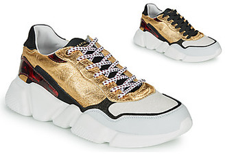 Serafini OREGON women's Shoes (Trainers) in Gold