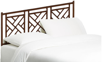 David Francis Furniture Chippendale Headboard - Coffee Brown Queen