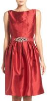 Eliza J Taffeta Fit & Flare Dress (Petite)