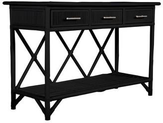 David Francis Furniture 54'' Wide 3 Drawer Wood Sideboard Color: Black