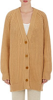 Ryan Roche Women's Chunky Rib-Knit Cashmere Sweater-TAN