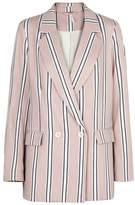Free People Uptown Girl Striped Cotton Blazer