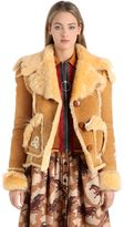 Coach Bird & Floral Patches Shearling Jacket