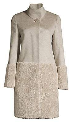 Cinzia Rocca Women's Faux Fur-Blocked Wool Coat