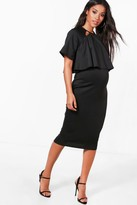 boohoo Maternity Jessy Double Layer Wiggle Dress
