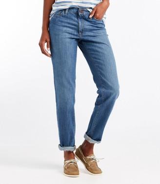 L.L. Bean Women's 1912 Boyfriend Jeans, Favorite Fit Straight-Leg