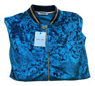 The Frankie Shop Blue Velvet Leather jackets