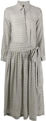 Sara Lanzi Abstract-Print Shirt Dress