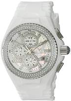 Technomarine Women's 'Cruise' Quartz Stainless Steel and Silicone Casual Watch, Color:White (Model: TM-115241)