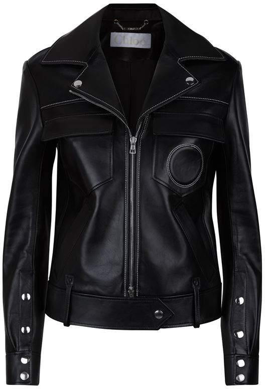Chloé Circular Pocket Leather Jacket