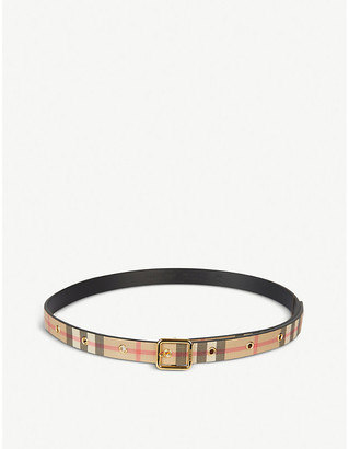 Burberry Lyla checked woven belt 4-6 years