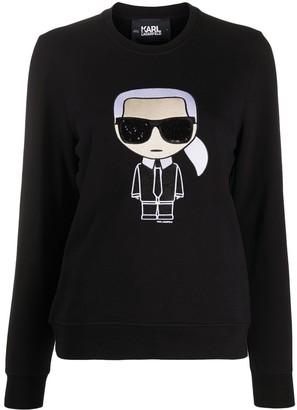 Karl Lagerfeld Paris K/Ikonik crewneck sweatshirt