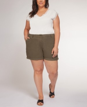 Black Tape Plus Size Basic Cuffed Shorts