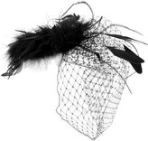 Point D'Esprit Feathered Hair Comb