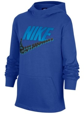 Nike Big Boys Cotton Emoji-Swoosh Jersey Hoodie