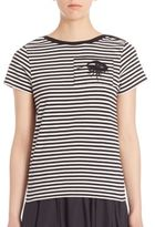 Marc Jacobs Striped Short Sleeve Cotton Top