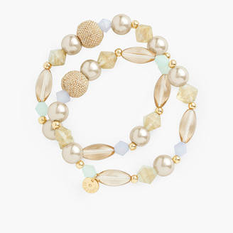 Talbots Basketweave Stretch Bracelets
