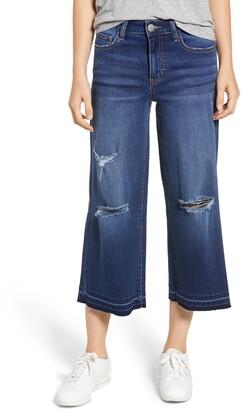 Prosperity Denim Wide Leg Crop Jeans