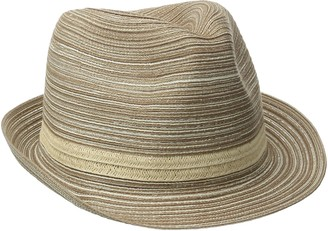 San Diego Hat Company Women's Mixed Braid Fedora Sun Hat