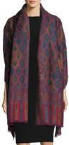 Sabira Cosmo Clover Wool Shawl, Multi