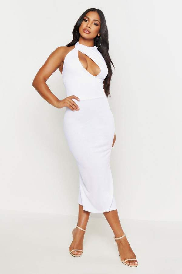 2a068ca18cf boohoo White High Neck Day Dresses - ShopStyle