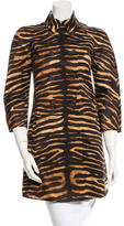 Michael Kors Tiger Print Coat