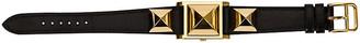 One Kings Lane Vintage Hermes Medor Gold & Black Watch - 1996 - Vintage Lux