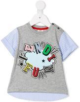 Fendi Kids fun print T-shirt - kids - Cotton - 3 mth