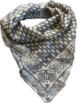 Saint Laurent Beige Silk Scarf