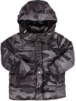 Officina51 Camouflage Down-Quilted Hooded Coat-GREY