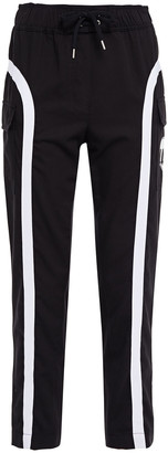Love Moschino Cropped Printed Twill Track Pants