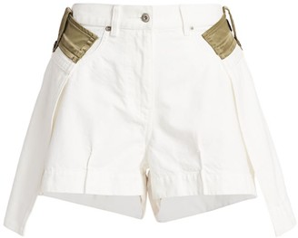 Sacai Layered High-Low Denim Shorts