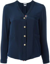 Thom Browne button front blouse - women - Silk - 40