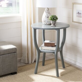 Lark Manor Joanna Solid Wood End Table with Storage Color: French Grey