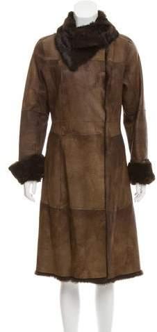 Andrew Marc Fur-Trimmed Shearling Coat