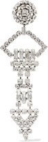 Saint Laurent Silver-plated Crystal Clip Earring - one size