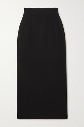 Dolce & Gabbana Wool-blend Crepe Midi Skirt - Black