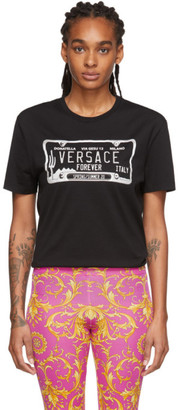 Versace Black License Plate T-Shirt
