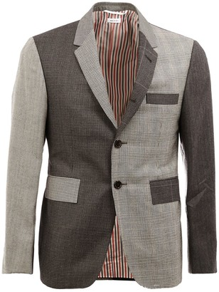Thom Browne Notched Lapel Patterned Blazer