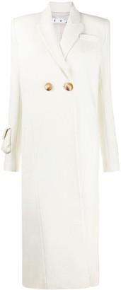 Off-White Ribbed Stripe Duster Coat
