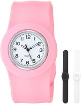 Slide Kids' SL3P-JUPWL Slap 3PAQ Jumbo Pink, and Black Watch