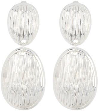 Simon Sebbag Sterling Silver Double Oval Drop Earrings