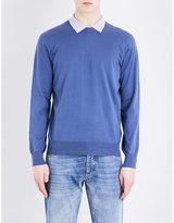 Brunello Cucinelli Crewneck Wool And Cashmere-blend Jumper