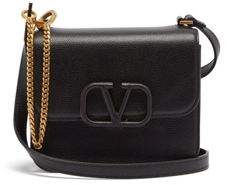 Valentino V-sling Small Leather Shoulder Bag - Womens - Black