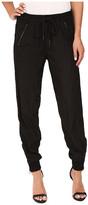 Blank NYC Black Track Pants in Headphone Zombie