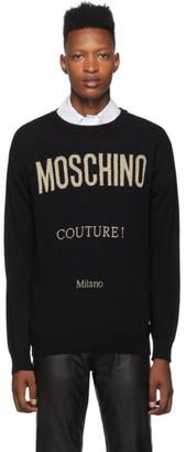 Moschino Black Couture Crewneck Sweater