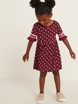 Old Navy Fit & Flare Flutter Elbow-Sleeve Dress for Toddler Girls